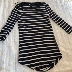 Dark Navy & White Striped Top- NWOT- Size XS